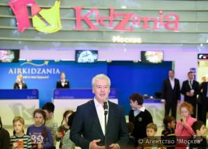 Мэр Москвы Сергей Собянин отметил, что в «Кидзании» будут представлены 60 различных профессий
