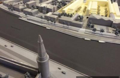 Макет проекта, победившего в конкурсе на концепцию застройки участка на Софийской набережной