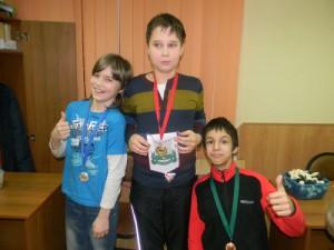 На фото победители турнира по шахматам