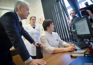 Мэр Москвы Сергей Собянин побывал в поликлинике №180 в районе Митино
