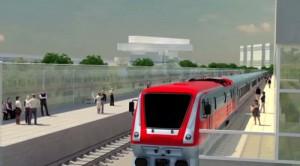 На фото проект воздушного метро