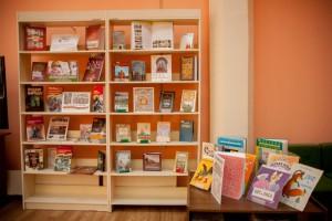 На фото читальный зал библиотеки №145