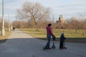 Одна из семейных досуговых зон находится в Коломенском