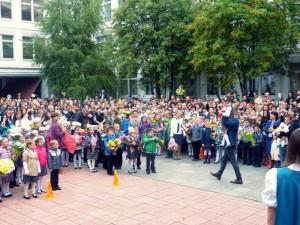 На фото учащиеся образовательного комплекса №2116, в которых входят школы №№980, 985 и 936