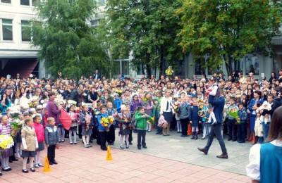 На фото учащиеся образовательного комплекса №2116