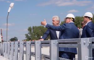 Собянин проинспектировал ход работ на Ленинградском шоссе