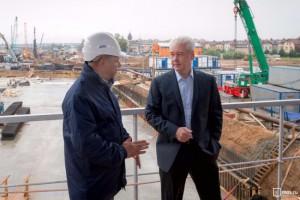 Собянин осмотрел новую станцию метро в Западном округе Москвы