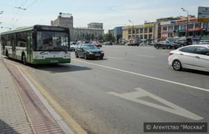 Выделенная полоса идёт по Кутузовскому проспекту и Можайскому шоссе