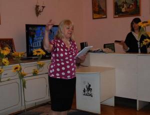 Перед зрителями выступила актриса Янина Когут с рассказом о Петре и Февронии
