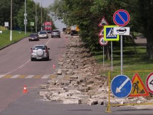 В Зябликове продолжается реконструкция Орехового проезда
