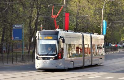 С 10 августа в ЮАО временно отменят движение трамваев от Новоданиловского проезда до Нагатина