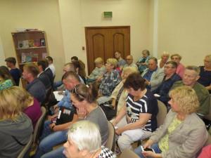 На встрече присутствовали много жителей