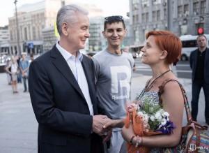 Собянин узнал у горожан, что они думают о благоустройстве центральных улиц Москвы