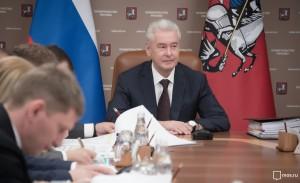 Мэр Москвы Сергей Собянин на заседании президиума правительства