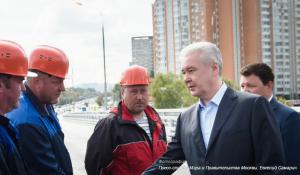 Мэр Москвы Сергей Собянин открыл новую эстакаду на юге столицы