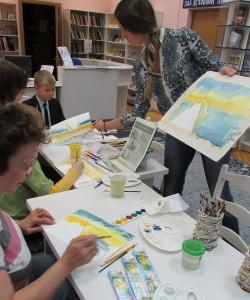 Художница Светлана Решетова провела мастер-класс по акварельной живописи