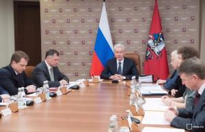Сергей Собянин на заседания президиума правительства Москвы