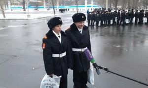 """Кадеты из школы №2116 дают интервью телеканалу """"Москва-24"""""""