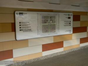 Навигационный указатель в метро