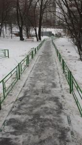 Пешеходная дорожка после обращения на портал