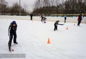 Спортивные игры на катке в Южном округе