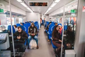 Пассажиры Московского центрального кольца в ЮАО
