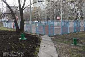 Спортивная площадка в районе Зябликово
