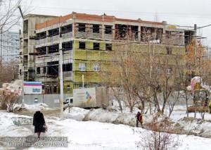 Строительство центра соцобслуживания на Кустанайской