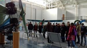 Школьники в музее Военно-воздушных сил