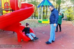 На детской площадке в Зябликове