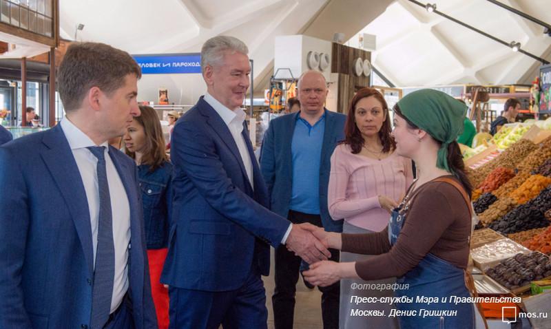 Сергей Собянин посетил Даниловский рынок