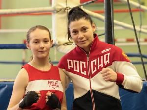 На фото: Анастасия Кириенко и Софья Очигава, серебряный медалист лондонской олимпиады