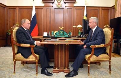 Сергей Собянин на встрече с Владимиром Путиным Сергей Собянин на встрече с Владимиром Путиным
