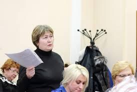 Любовь Балекина на заседании совета депутатов