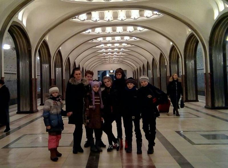 Воспитанники Южного на станции Маяковская
