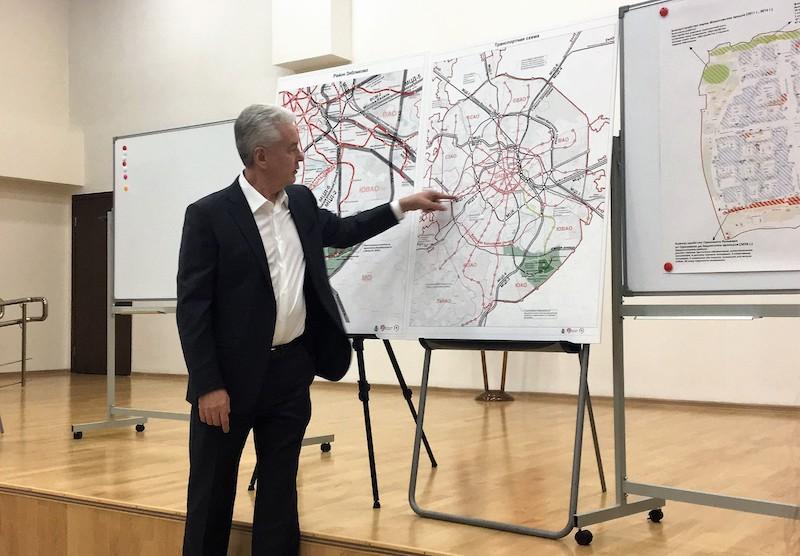Мэр Москвы Сергей Собянин на встрече с жителями района Зябликово