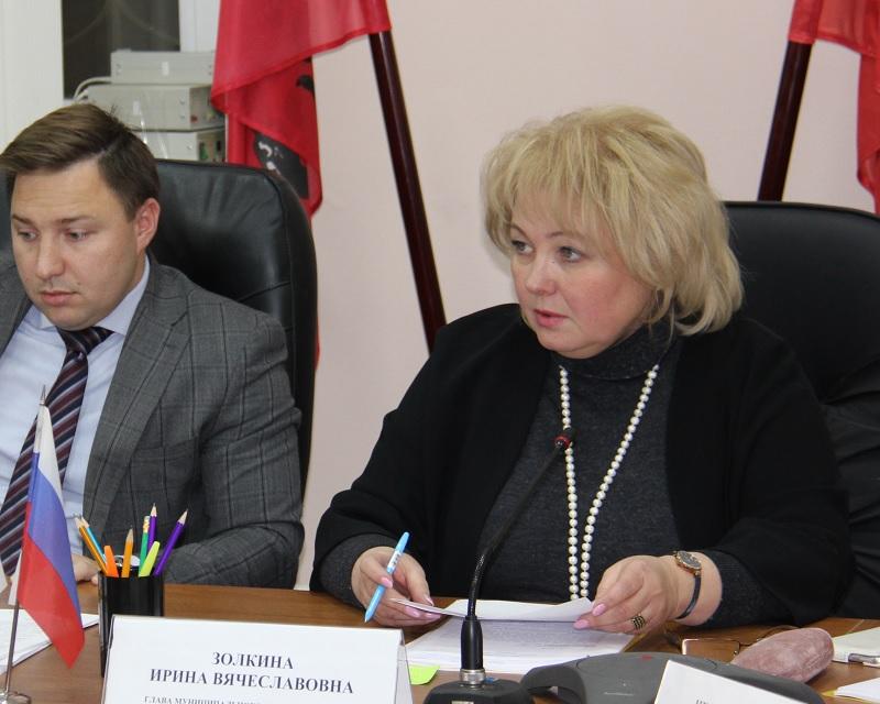 Золкина, Князев, отчет главы, заседание, Совет депутатов IMG_9766ЗябЗолкина