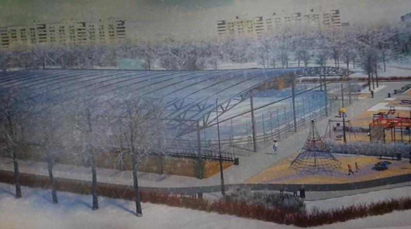 Каток искусственным льдом, большой каток, Ореховый бульвар, 2702