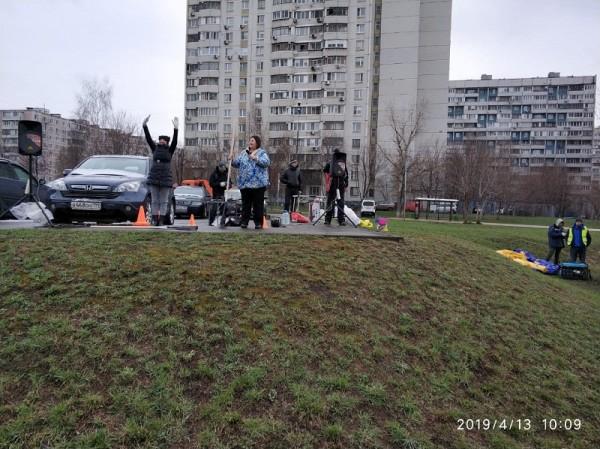 Праздник двора, субботник, Ореховый бульвар, 15041