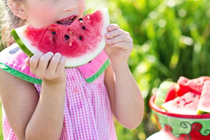 арбуз,, лето, ребенок, 3107