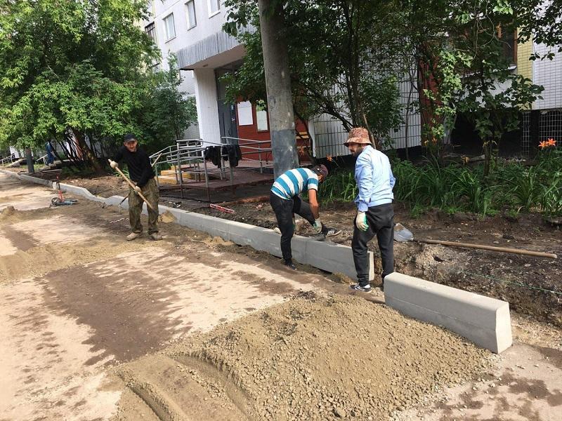 благоустройство, Шипиловская, ремонт асфальта, 1207 (2)