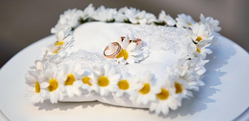кольца, ромашка, свадьба, мосру, 1807