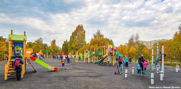 парк, Москва, детская площадка, осень, мосру, 0410