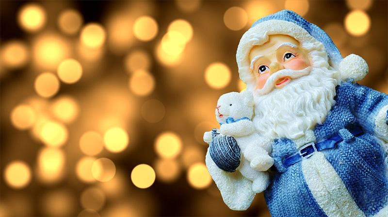 Дед Мороз, игрушка, огоньки, праздник, пиксибей, 1912