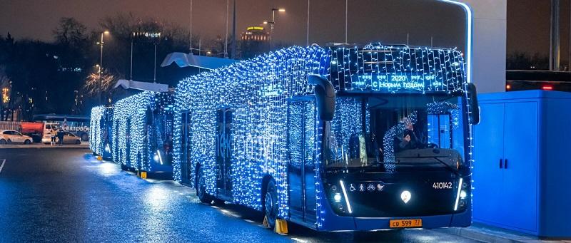 автобус, транспорт, Новый год, мосру, 2612