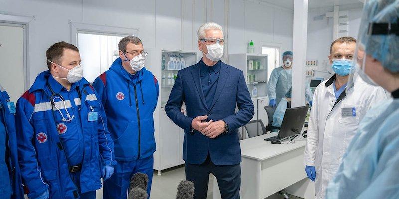 Мэр Москвы Сергей Собянин медицина